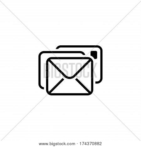 Correspondence Icon. Flat Design. Business Concept. Isolated Illustration.