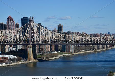 Ed Koch Queensboro Bridge view from Long Island City to Rooseveld Island