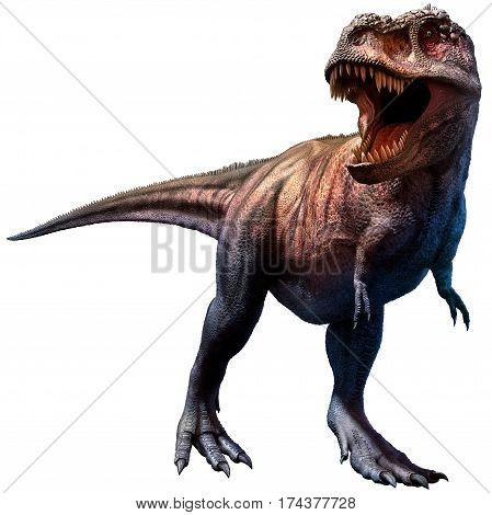 A tyrannosaurus dinosaur from the Cretaceous era