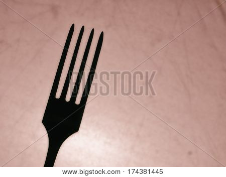 fork for eating silhouette cutlery for eating food