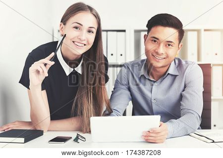 Asian Businessman And His Charming Colleague