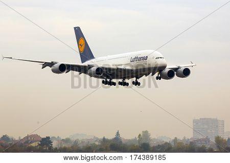 Airbus A380 Airplane Landing