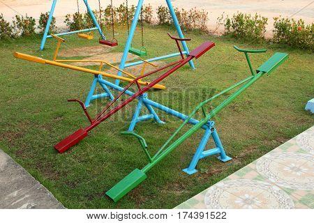 Playground in the school children in Thailand