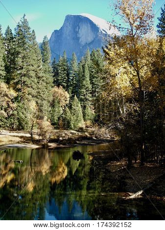 Fall in Yosemite Valley with Half Dome