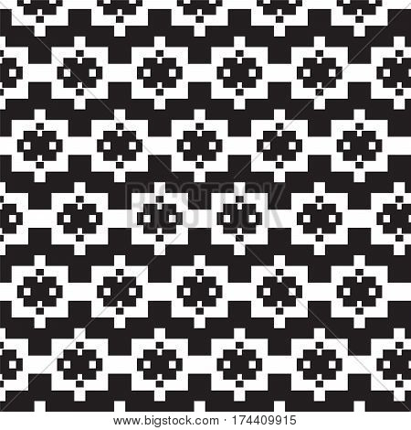 black square on white square with little white square pattern background vector illustration image