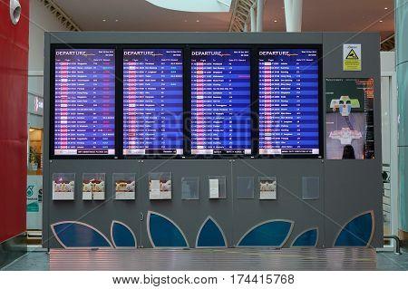 Interior Of Klia2 Airport In Kuala Lumpur, Malaysia