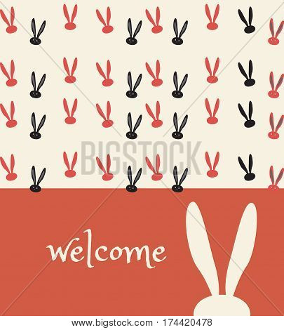 Easter Holiday invitation background with
