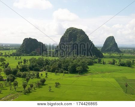 Photography of a landscape to Hpa-An in Myanmar
