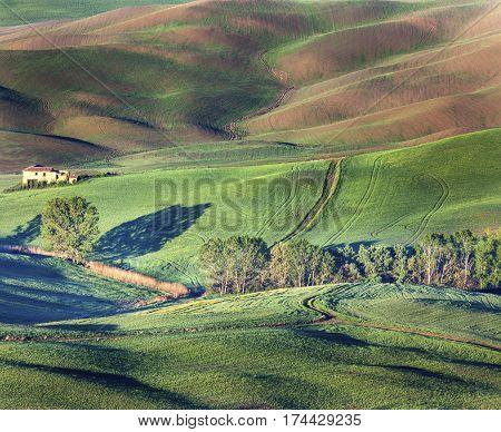 Amazing Tuscany landscape during spring. Tuscany Italy