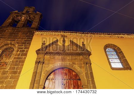 Los Dolores Church in San Cristobal de La Laguna. Tenerife Canary Islands Spain.