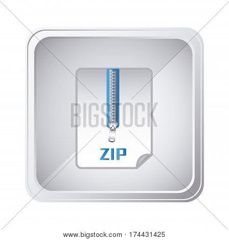 emblem laptop zip document icon, vector illustraction design