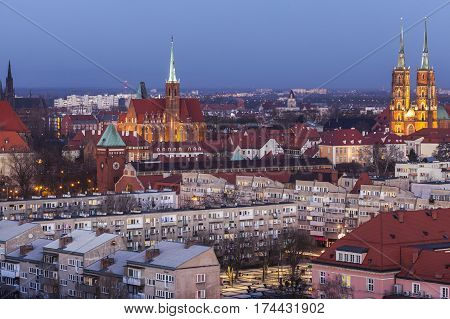 Wroclaw Cathedral and Collegiate Church. Wroclaw Lower Silesian Poland.