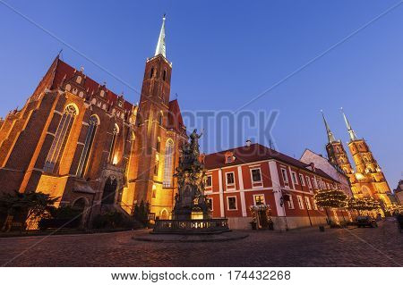 Wroclaw Collegiate Church. Wroclaw Lower Silesian Poland.