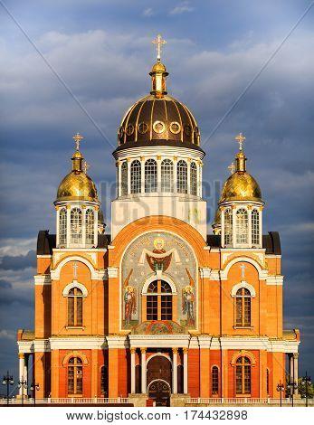 Church in Obolon. Kiev. Ukraine. Capital. Orthodox.