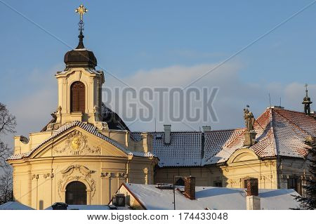 Church of the Most Sacred Heart of Our Lord in Kutna Hora. Kutna Hora Central Bohemian Region Czech Republic.