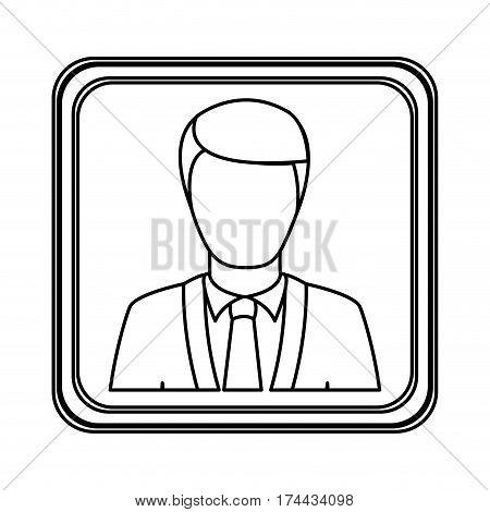 figure silver emblem technical support man assistant, vector illustraction design