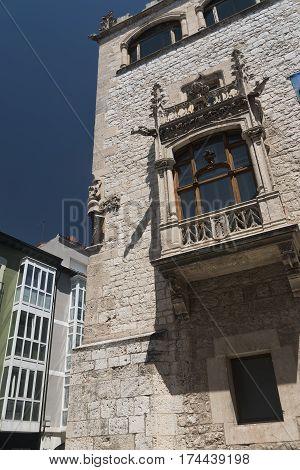 Burgos (Castilla y Leon Spain): facade of historic buildings