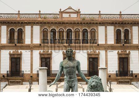 Ronda (Andalucia Spain): historic buildings in the square known as Plaza del Socorro