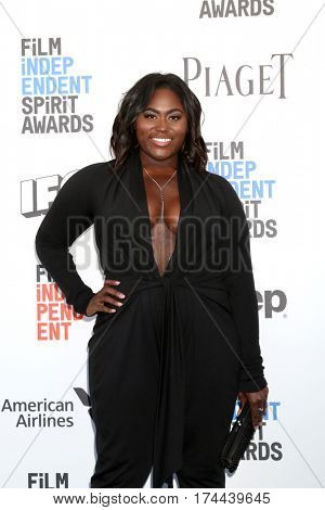 LOS ANGELES - FEB 25:  Danielle Brooks at the 32nd Annual Film Independent Spirit Awards at Beach on February 25, 2017 in Santa Monica, CA