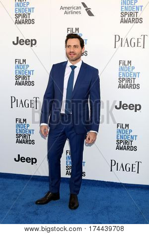 LOS ANGELES - FEB 25:  Edgar Ramirez at the 32nd Annual Film Independent Spirit Awards at Beach on February 25, 2017 in Santa Monica, CA