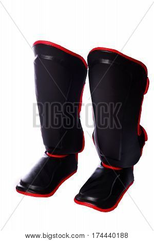 Shin Guard For Soccer On White Background