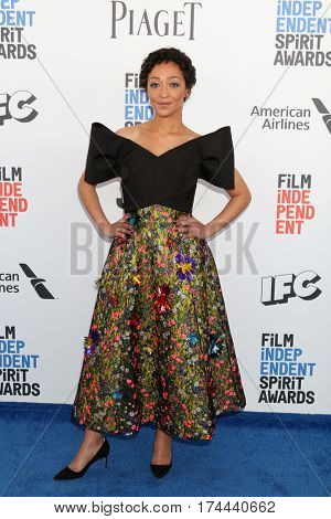 LOS ANGELES - FEB 25:  Ruth Negga at the 32nd Annual Film Independent Spirit Awards at Beach on February 25, 2017 in Santa Monica, CA