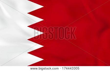 Bahrain Waving Flag. Bahrain National Flag Background Texture.