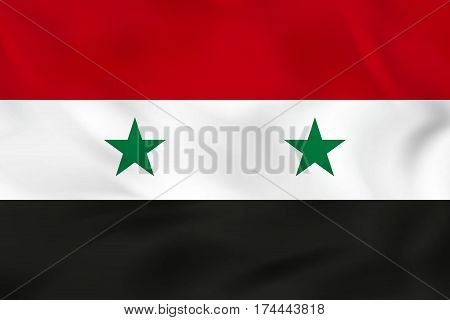Syria Waving Flag. Syria National Flag Background Texture.