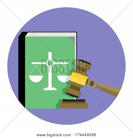 Law and Justice icon vector. Legal verdict decision and justice vector illustration