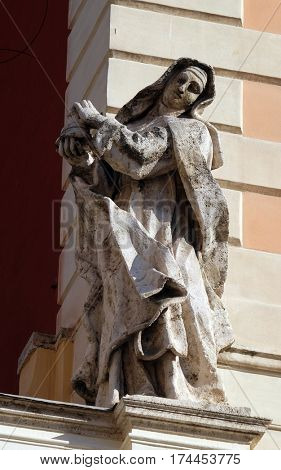 ROME, ITALY - SEPTEMBER 03: Saint Clare, Basilica of Saint Sylvester the First (San Silvestro in Capite) in Rome, Italy on September 03, 2016.