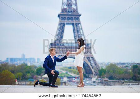 Romantic Engagement In Paris