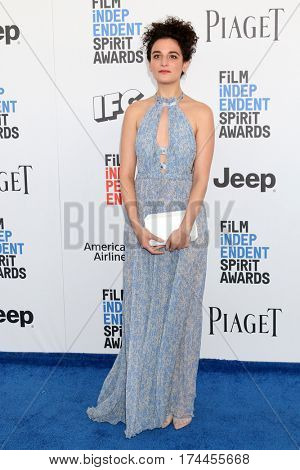 LOS ANGELES - FEB 25:  Jenny Slate at the 32nd Annual Film Independent Spirit Awards at Beach on February 25, 2017 in Santa Monica, CA