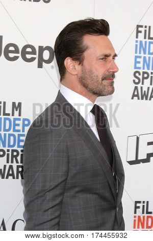 LOS ANGELES - FEB 25:  Jon Hamm at the 32nd Annual Film Independent Spirit Awards at Beach on February 25, 2017 in Santa Monica, CA