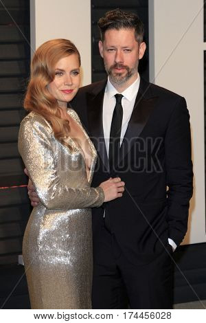 LOS ANGELES - FEB 26:  Amy Adams, Darren Le Gallo at the 2017 Vanity Fair Oscar Party  at the Wallis Annenberg Center on February 26, 2017 in Beverly Hills, CA