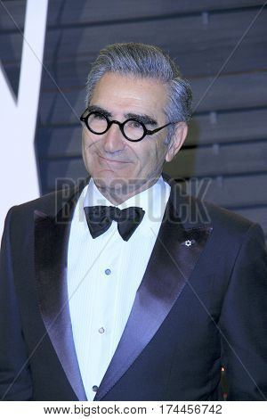 LOS ANGELES - FEB 26:  Eugene Levy at the 2017 Vanity Fair Oscar Party  at the Wallis Annenberg Center on February 26, 2017 in Beverly Hills, CA