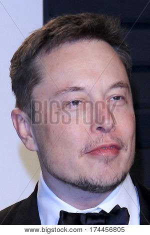 LOS ANGELES - FEB 26:  Elon Musk at the 2017 Vanity Fair Oscar Party  at the Wallis Annenberg Center on February 26, 2017 in Beverly Hills, CA