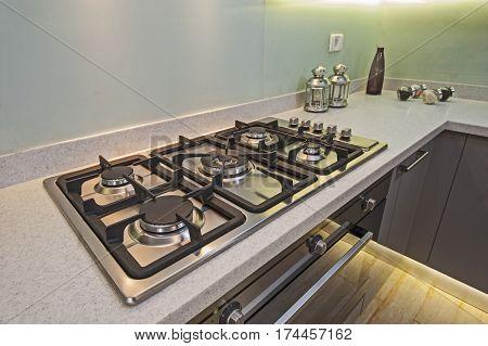 Kitchen Cooker Interior Design Of Luxury Apartment