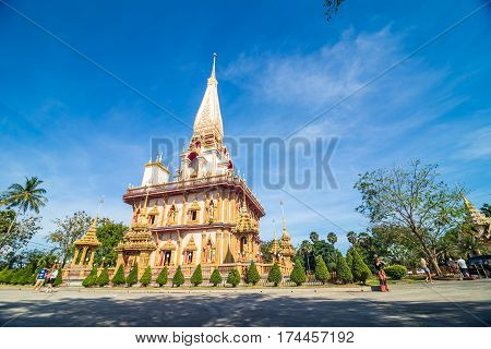 Architecture Of Buddha Pagoda Against Blue Sky