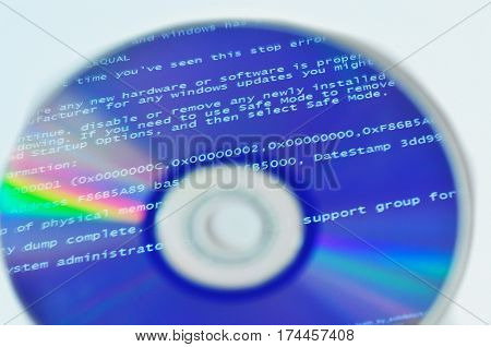 BSOD reflection on the disk screen of death