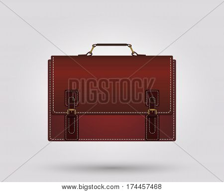 Business briefcase. Suitcase bag for documents. Vector illustration.