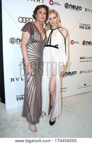 LOS ANGELES - FEB 26:  Caitlyn Jenner, Andreja Pejic at the 25the Annual Elton John Academy Awards Viewing Party at the  City of West Hollywood Park on February 26, 2017 in West Hollywood, CA