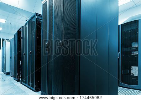 Modern web network and internet telecommunication technology, big data storage and cloud computing computer service