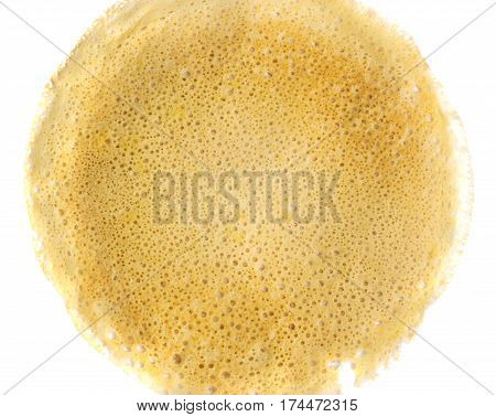 Thin Pancake On A White Background Top View