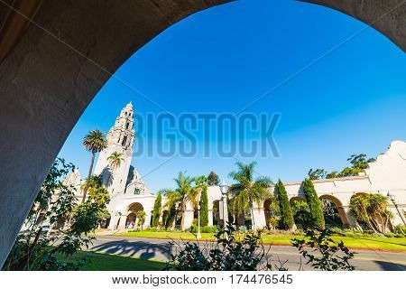 California tower in Balboa park in California