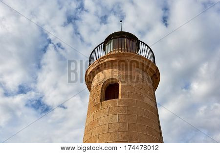 Lighthouse of Roquetas de Mar. Province of Almeria. Spain