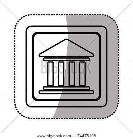 silhouette emblem shape bank icon, vector illustraction design image