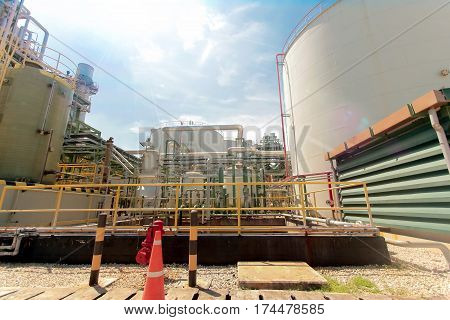Industrial Power Plant With Big Tank