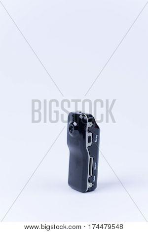 Mini Spy Hidden Camera Over White Background
