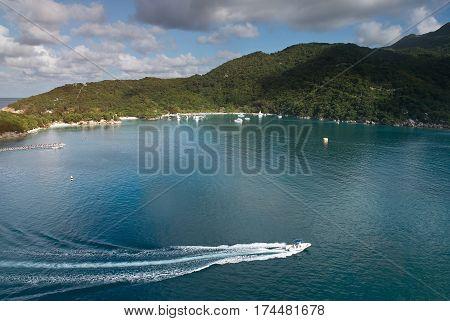 Bay In Haiti Caribbean Island