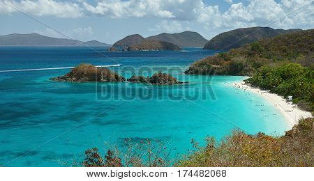Paradise Beach On Caribbean Island